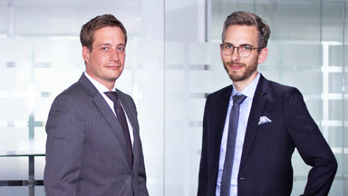 Rouven Lenhart (Managing Director Division Business Development & International Sales) und Jonas Riexinger (Managing Director Division Technics)