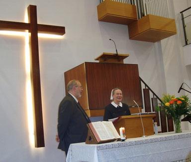 Le Pasteur Bernard Lehmann avec Soeur Louise Muller