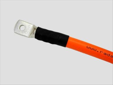 Presskabelschuh mit 50mm²-Kabel (Radaflex) verpresst.