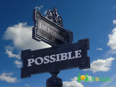 impossible possible signpost leading to a positive future
