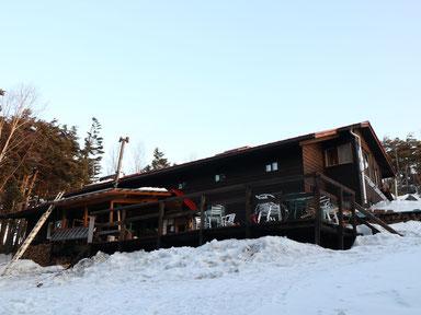 人気の高見石小屋