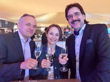 Adrian Steiner (Direktor das Zelt), Nadja Hauser (Produzentin Young Stage) und Edgar P.  Lehmann (Plan B Entertainment GmbH