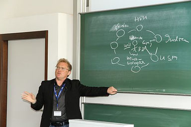 Sven Sebastian ganz analog beim HR Innovation Day 2016 | Foto von Sven Lehmann, www.streuverluste.de