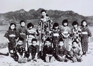 木下恵介監督の「二十四の瞳」の一場面