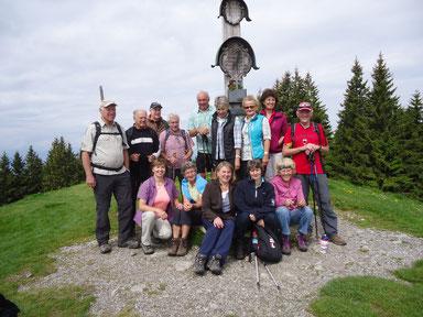 Gipfelfoto am Zwieselberg, 1348 m