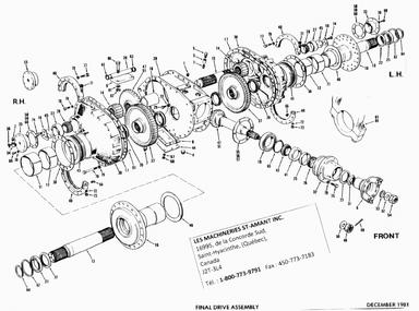 champion les machineries st amant inc final drive parts