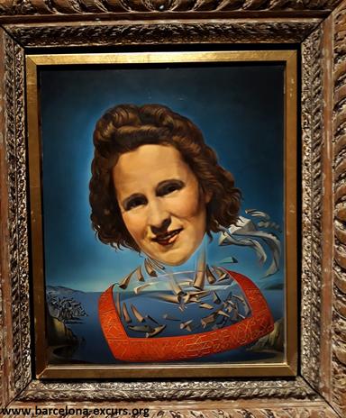 """Портрет Гала с признаками оносороживания"""" (1954)"""