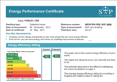 SAP energy rating