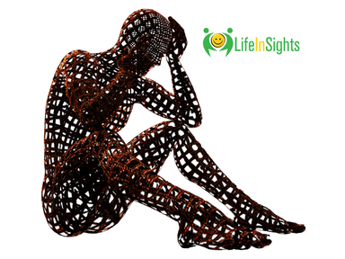 sculpture of stressed person which Lifeinsights coaching can help with