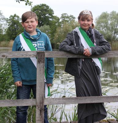 2019 Kinderkönige Wilhelm Russ und Lena Olschner