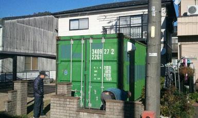 岐阜県関市 中古コンテナ20ftシャッター付 納品