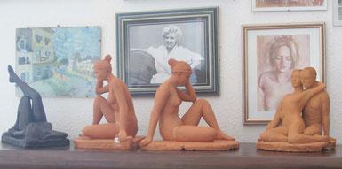 sculptures argile femme nu maillol  nouveausculpteur.
