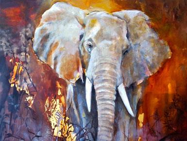 Elefant nach Reisefoto