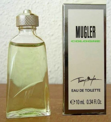 COLOGNE DE TH. MUGLER 10 ML - 2ème MODELE DE MINIATURE, SANS ETIQUETTE, BOÎTE DIFFERENTE