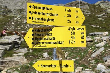 Wanderweg Beschilderung, Zillertal, Hinweisschild