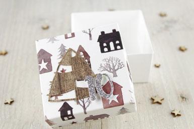 Adventskalender, Box, Weihnachten, Geschenk, Tannenbaum