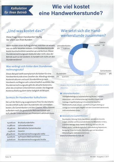 Handwerk, Kosten, Meschede, Metallbau, Anlagenbau, Stundenlohn, Gehalt