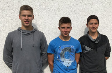 Von links: David Maier, Manuel Mink und Julian Münchberg