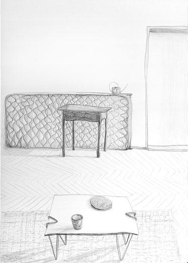 Nina Gross Kunst Zeichnung drawing Wohnräume