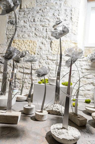 décoration indoor, outdoor, acier inoxydable