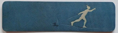 Marque-page Ski de fond - 15 x 4 - Atelier Eclats de bois - Isère