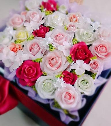 クレイフラワー フラワーボックス クレイアート 粘土 花