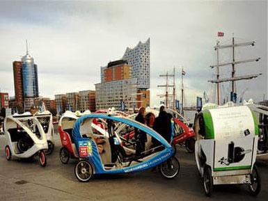 Hamburg: Fahrradtaxi, Velotaxi und Stadtrundfahrt 105