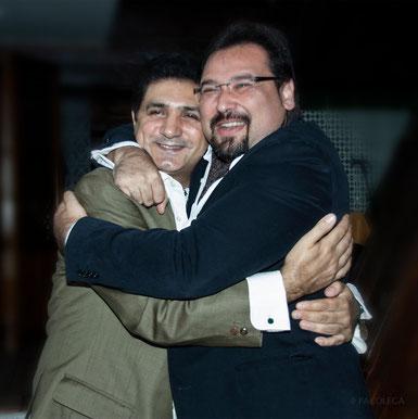 Falo y José Valencia (ganador del premio al Mejor disco de cante revelación) en la gala. Foto: Pacolega