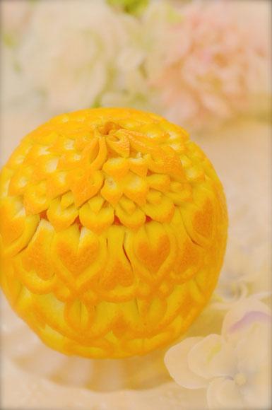 フルーツ オレンジ カービング