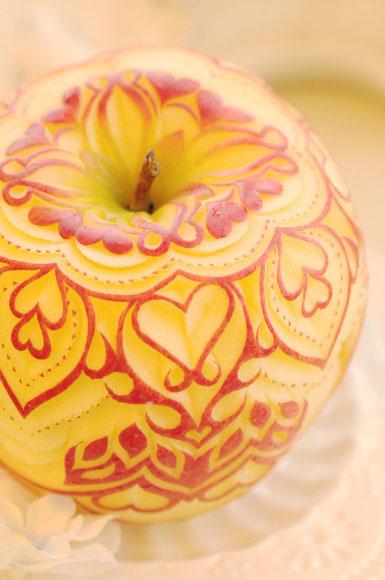 りんご カービング