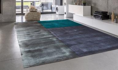 Handgefertigter Teppich in einem Designer-Haus