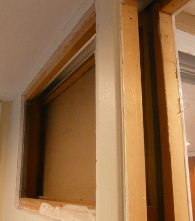 New Pocket door track installed