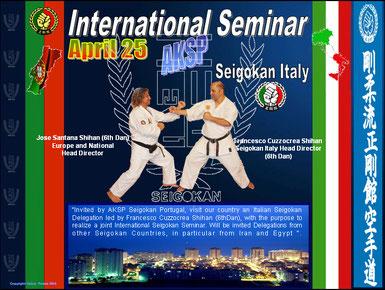 Clicca sulla foto e vedrai tante foto scattate all'International Stage Seigokan tenutosi in Portogallo nei giorni 25/26/27 aprile 2010