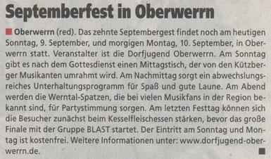 06.09.2012 Schweinfurter Anzeiger