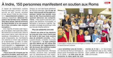 Article paru dans Ouest-France du 10 mai