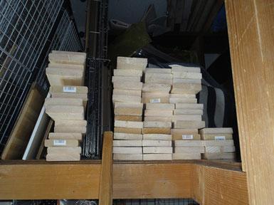 巾木70枚ほか材料の木取り完了