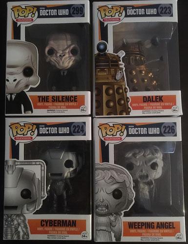 1 von 4 Doctor Who Bösewicht FunkoPOP! Figuren