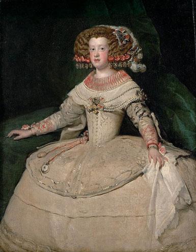 Портрет инфанты Марии Терезии с часами - самые известные картины Веласкеса