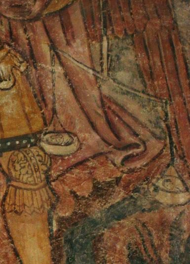 SERMANO Chapelle St Nicolas - fresque du 15è
