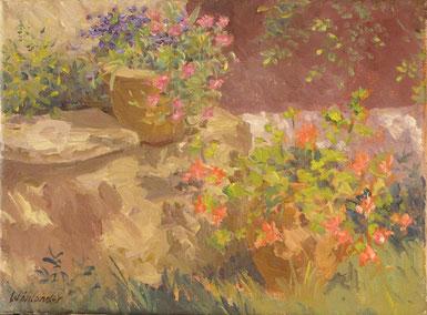 Tony Wahlander (Wåhlander) Les fleurs de notre terrasse à Barjols