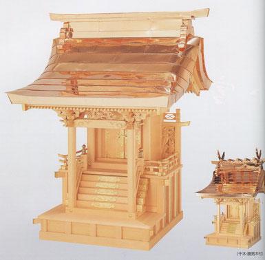 八幡造り(銅板葺)
