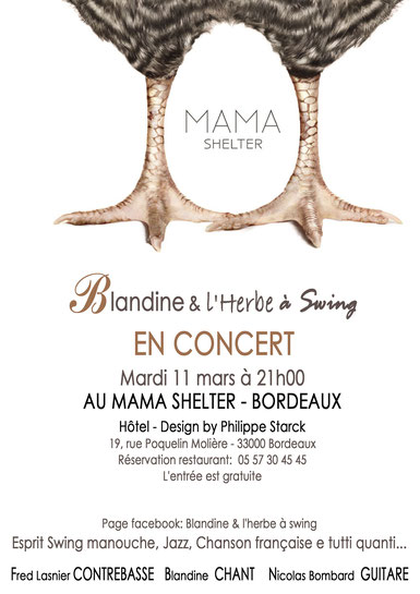 @ Réalisation: Blandine - Logo: Mama Shelter (Design by Philippe Starck)