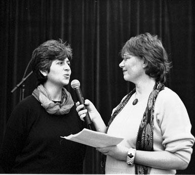 Ein Beispiel aus unserem Bildarchiv  - Interview mit Katerina Katsatou (links) von Radio  Lästerher(t)z ©  Claudia Friedrich