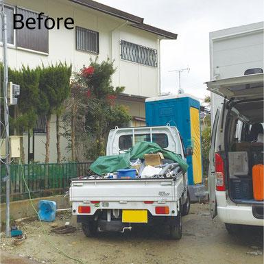 神戸市北区 カーポート設置 Before マスタードリフォーム