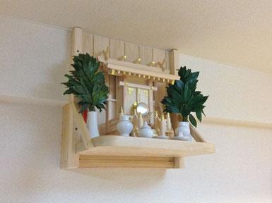 一社神明 桧棚板(45cm x 30cm) 檜背面板 組み板(段差解消)