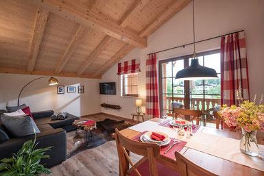 Wohnzimmer Ferienwohnung Wilder Kaiser