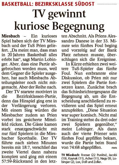 Bericht im Miesbacher Merkur am 18.1.2017 - Zum Vergrößern klicken
