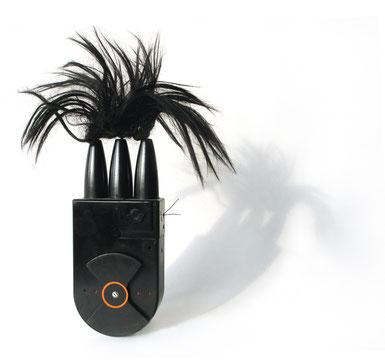 Schwarzer Raucher, Filmeinspuler, Lampenfassungen, Haare