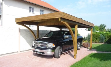carport aus holz g nstig vom hersteller. Black Bedroom Furniture Sets. Home Design Ideas