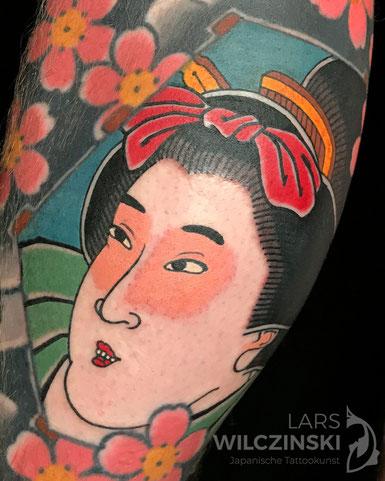 Lars Wilczinski, Tattookünstler, Tattoo-Atelier Berlin, Geisha, Tattookunst, Japanische Tattoos, Japanese Tattoo, Japantattoo Motiv